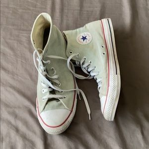 White Converse High Top Shoes